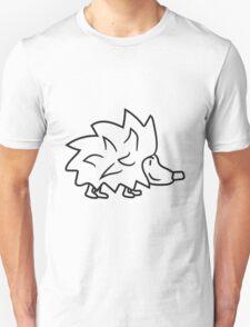 wandern laufen gehen kleiner süßer niedlicher igel kind baby stacheln  Unisex T-Shirt