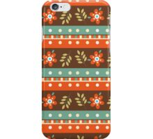 Country Fall Flowers and Stripes iPhone Case/Skin