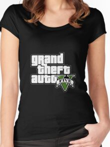 GTA 5 Women's Fitted Scoop T-Shirt