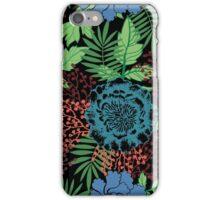 Blue floral. Flower garden. Tropical blue. iPhone Case/Skin