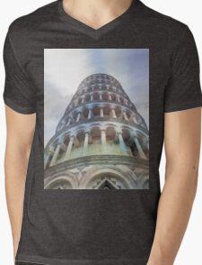 Pisa tower watercolor Mens V-Neck T-Shirt