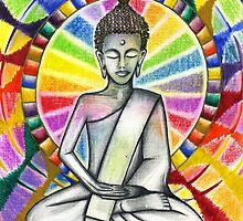 Colourful Buddha by Francesca Love Artist