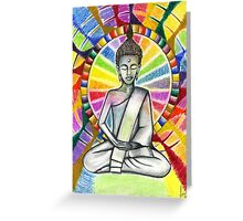 Colourful Buddha Greeting Card