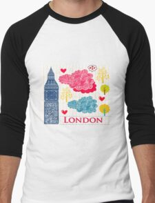 London Romantic 578 Men's Baseball ¾ T-Shirt