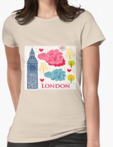 London Romantic 578 Womens Fitted T-Shirt
