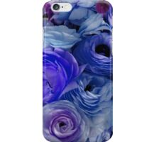 Flowers for Ellie - Bright Blue iPhone Case/Skin