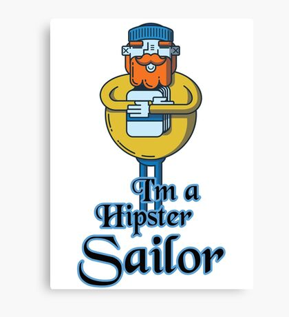 Hipster Sailor Canvas Print