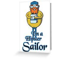 Hipster Sailor Greeting Card