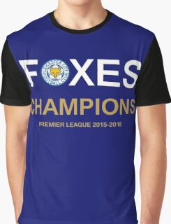 Champions Premier League 2015-2016 Leicester city Graphic T-Shirt