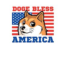 Doge Bless America Photographic Print