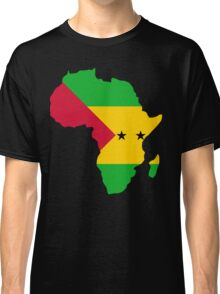 Sao Tome Flag Africa Map T-Shirt Classic T-Shirt