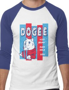 DOGEE - VERY DRINK, SUCH COLD, WOW Men's Baseball ¾ T-Shirt
