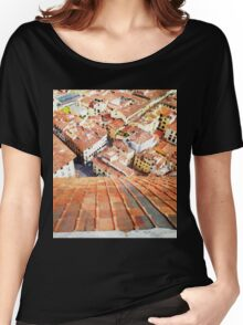 Florence Watercolor Painting Women's Relaxed Fit T-Shirt