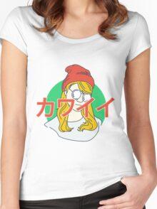 kawaii pop girl Women's Fitted Scoop T-Shirt