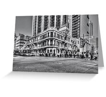 City of Perth - lunch rush hour Greeting Card