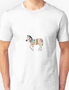 Vector Pop Art Zebra Unisex T-Shirt