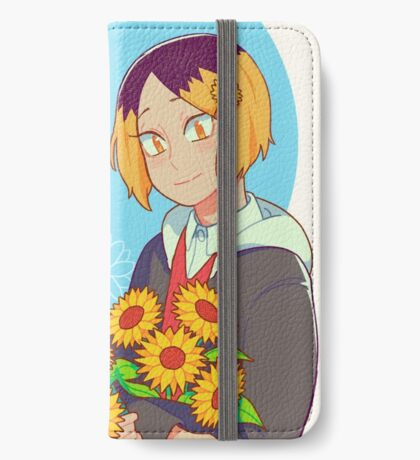hnkn with sunflowers iPhone Wallet/Case/Skin