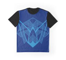 Triceratops Head - Blue Graphic T-Shirt