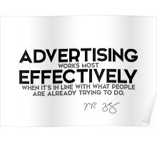 advertising works most effectively in line - mark zuckerberg Poster