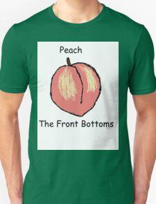 Peach  front bottoms Unisex T-Shirt