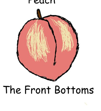 Peach  front bottoms Sticker