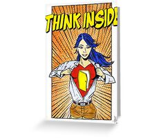 Think Inside Greeting Card