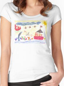 At The Sea Women's Fitted Scoop T-Shirt