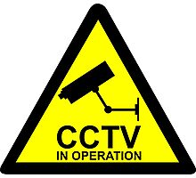 CCTV Notice Photographic Print