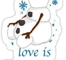 Love Is Sticker