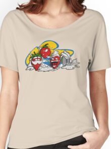 Cream Party with Strawberries Women's Relaxed Fit T-Shirt