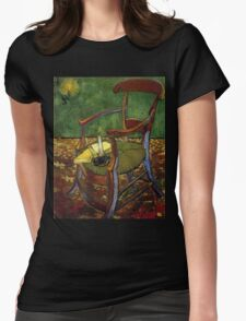 Chair still life by Vincent Van Gogh Womens Fitted T-Shirt