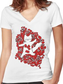 American Fluffy Women's Fitted V-Neck T-Shirt