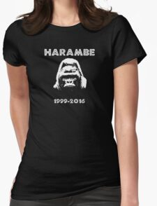 rip harambe 1999-2016 Womens Fitted T-Shirt