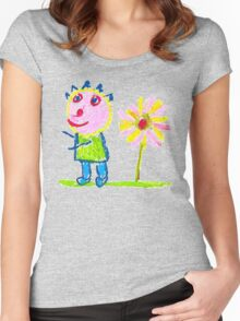 Me And Sun Flower Women's Fitted Scoop T-Shirt