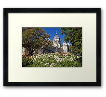 Royal Exhibition Building - Garden View Framed Print