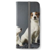 Jack Russell terrier family portrait iPhone Wallet/Case/Skin