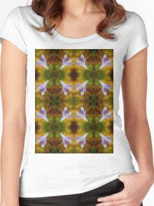 Agapanthus Macro Pattern Women's Fitted Scoop T-Shirt