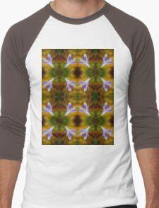 Agapanthus Macro Pattern Men's Baseball ¾ T-Shirt