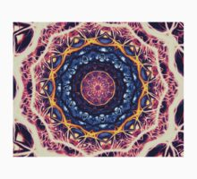 Kaleidoscope 6 psychedelic abstract healing mandala tunnel pattern . One Piece - Short Sleeve