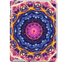 Kaleidoscope 6 psychedelic abstract healing mandala tunnel pattern . iPad Case/Skin