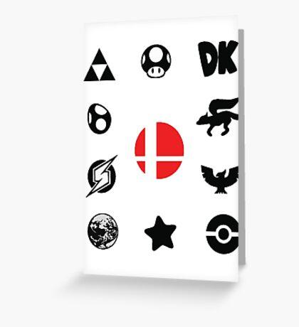 Smash Symbols Greeting Card