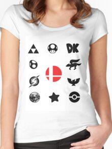 Smash Symbols Women's Fitted Scoop T-Shirt