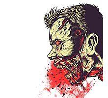 Blood zombie Photographic Print
