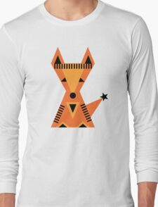 Little red fox, forest, cute, nature, animal, woodland, Long Sleeve T-Shirt
