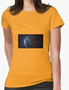 World from Space Womens Fitted T-Shirt