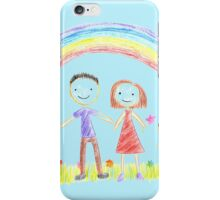 Rainbow And A Happy Family iPhone Case/Skin