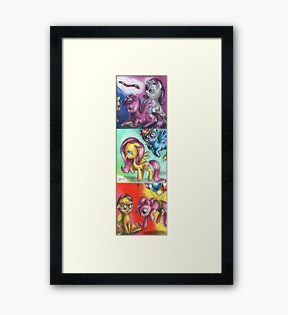 My little pony - The mane five Framed Print