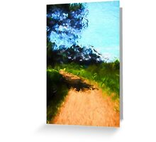 Path in a Park Greeting Card