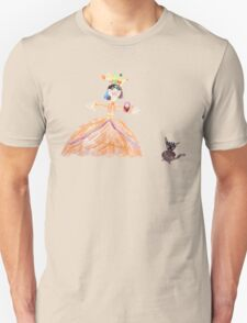 Princess And Her Cat Unisex T-Shirt
