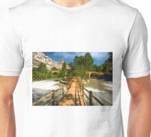 Crossing the river - Alcalá del Júcar Unisex T-Shirt
